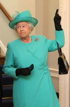 """I'll race you to the top!"" via Her Royal Hilariousness: 30 Funny Pictures of the Queen"