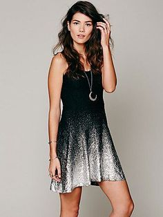 Free People Ombre Foil Dress