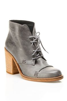 Charles David Grifter Bootie In Gray Leather.