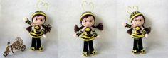Bijenmeisje of - lieveheersbeestje (gratis Nederlands haakpatroon)