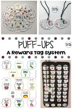 Reward tags are FUN and ENGAGING antecedent management tool that allows you to present a tangible item along with delivering behavior specific praise.  These tags are designed to be funny and whimsical, each with a funny pun or uplifting statement. The best part is there are 80 tags for your child or student to collect.