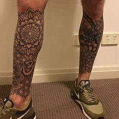 Leg Tattoo Men, Body Tattoos, Knee Tattoo, Buddha Tattoos, Tribal Tattoos, Maori Tattoos, Thailand Tattoo, Light Tattoo, Lion Tattoo Sleeves