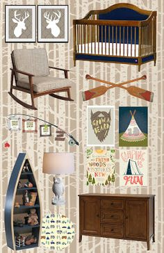 Camping themed nursery. My nursery design services will go to funding our adoption!