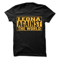 LEONA Against The World - Cool Shirt ! - #gift for her #cool gift. LOWEST PRICE => https://www.sunfrog.com/Hunting/LEONA-Against-The-World--Cool-Shirt-.html?68278