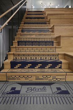 When you find yourself trying to decide upon a design and layout for your home staircase, it can be more than a bit of a challenge to pick something ple. Web Banner Design, Wall Design, Design Design, Booth Design, Floor Design, Design Concepts, Environmental Graphic Design, Environmental Graphics, Restaurant Design