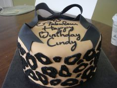 cheetah print cakes | cake was made for an order requesting a cheetah/leopard print. cake ...