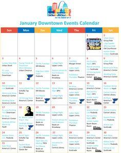 January Downtown Events Calendar