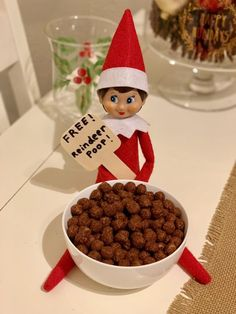 Funny Elf On The Shelf Ideas For The Holiday Season - - 11 funny elf on the shelf ideas for kids and family. Very easy easy elf on the shelf ideas for toddlers and adults to have fun with this holiday season. Photoshop Design, Awesome Elf On The Shelf Ideas, Elf On The Shelf Ideas For Toddlers, Elf Ideas Easy, Elf Is Back Ideas, Reindeer Poop, Elf Auf Dem Regal, Elf Magic, Crafts