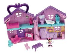 Mickey Mouse Clubhouse Minnie's House Playset : Great set with furniture - and easily brought along for trips. Minnie Mouse House, Disney Mickey Mouse Clubhouse, Fisher Price, Maison Transportable, Dora Toys, Toddler Toys, Kids Toys, Super Mario Toys, Pokemon Toy