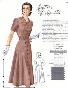 Maisonette Salesman's Sample Card C. 1949 (definitely late 1940's)
