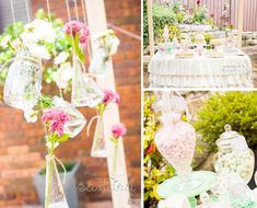 shabby chic vintage high tea bridal shower idea via karas party ideas karaspartyideascom