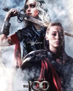 Clarke The 100, Lexa The 100, Clarke And Lexa, The 100 Clexa, The 100 Cast, The 100 Show, Cute Lesbian Couples, Lesbian Pride, The 100 Poster