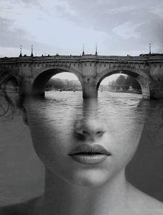 L'artiste designer espagnol Antonio Mora dévoile dans cette excellente série ses portraits photographiques surréalistes en double exposition.