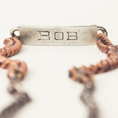 Bob ID Necklace, $97, now featured on Fab.