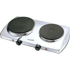 Brentwood  TS372 Electric Twin Burner  Chrome Stainless Steel >>> Click image to review more details. (This is an affiliate link)