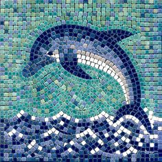 Dolphin #mosaic COULD BE TABLE OR STEPPING STONE