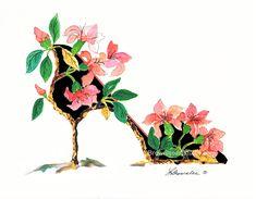 Brownlee Art Studio by brownleeartstudio Cherry Blossom Tree, Cherry Tree, Flower Shoes, Shoe Art, Tree Print, Art Studios, Girly Things, Etsy Seller, Fantasy