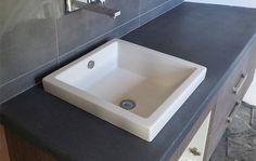 Makers Lane :: Bathroom Concrete Vanity Top Custom Made, Bespoke Furniture made in Australia.