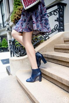 Tory Burch Navy Bond Bootie