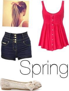 """""""Spring look"""" by arianagrande-ii ❤ liked on Polyvore"""