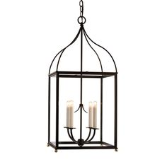 """Bedons Alley Chandelier C 6460. Mutiple Finishes Available. 14"""" square x 32.5"""" high. $3080 list/ $1850 net."""