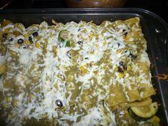 Chicken Enchiladas.. yummy with many veggies