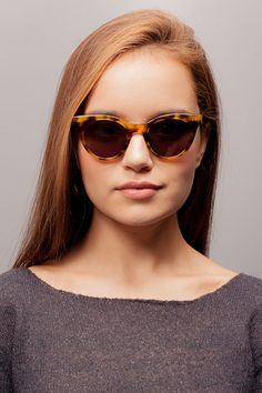 f153f6c7d5 Divine Brown Tortoise Plastic Sunglasses from EyeBuyDirect. Exceptional  style