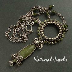 925 Sterling and Fine Silver Necklace Peridot and by NaturalJewels, €119.50