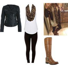 """Leather & Leopard"" Love it"
