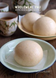 Wholemeal Pau with Red Bean Filling, pau, baozi, Chinese steamed bun, wholemeal pau, red bean pao, dim sum, toddler, kid, children, snack, food 4 tots