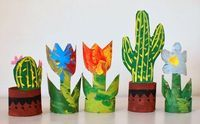 Turn Toilet Paper Rolls Into Cactus And Flowers - Things to Make and Do, Crafts and Activities for Kids - The Crafty Crow