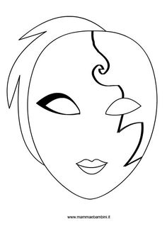 Maszk Veneziana3 Blue Face Mask Drawing Template