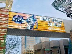 The road to the Final Four! (Well, one of them.) Prographics installed our Grand Format graphics on this walkway leading into the Phoenix Convention Center. Tonight play resumes for the final 16 teams vying for a chance at the championship game on April 3!
