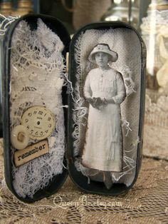 Altered Art Tin Assemblage ~ Altered Altoid Tin~ by QueenBe