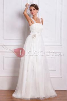 帝国スクエアネックワトートレインウェディングドレス
