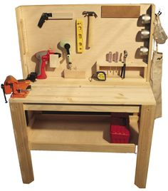 Adjustable workbench for the kiddos