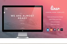 Liner - Minimal Coming Soon Template by IndoPixel on Creative Market
