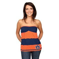 The ball is in your court when you sport this hot Auburn Tigers Rebound tiered tube top.