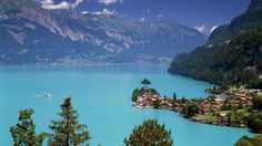 Lake Brienz Iseltwald Switzerland. SO pretty!!