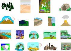 Landscapes - English Vocabulary - IWB activity.