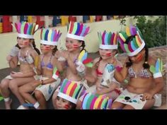 Disfraz casero: tocado de plumas de indio - YouTube