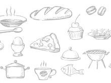 Szybkie paszteciki Seashell Tattoos, Food Drawing, Food Illustrations, Kitchen Recipes, Cheesecake, Drinks, Desserts, Kielbasa, Christmas Eve