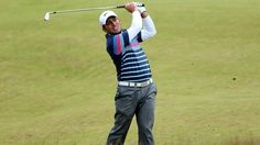 Francesco Molinari in action today - and wearing the Nike Polo that we stock!