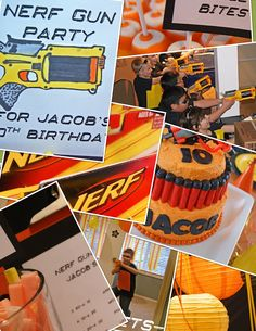 This has some AWESOME ideas for a Nerf party!! Wish I could pin ALL the pictures!!!!!