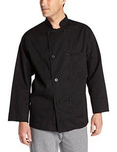XS-3X, 3 Colors Mens Basic Chef Coat