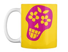 Dia De Los Muertos Lemon Yellow Mug