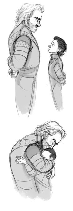 Awww. Sometimes I think people are too hard on Odin. He did love Loki, his son.//YES. <3 << I think that Odin did love Loki, but he favored Thor because he possessed more Asgardian traits. Loki was different. Everyone but Frigga treated Loki different.