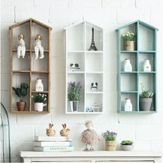 House Shaped Wooden Shelf