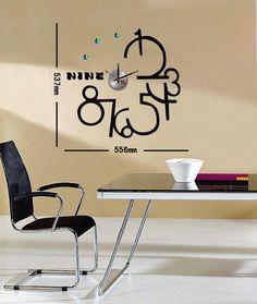 Orologio Adesivo Design da parete con diamantini by Momentinmovimento