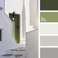 Dark green and khaki, combined with the white and gray tones create a delicious fresh palette. In this environment, you can color to sit and relax.
